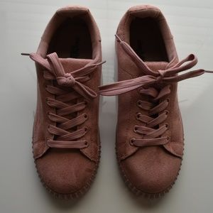 Charlotte Russe Blush Pink Sneakers